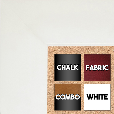 "BB1865-2 Matte Satin White 2 3/4"" Wide Value Priced Medium To Extra Large Custom Cork Chalk Or Dry Erase Board"