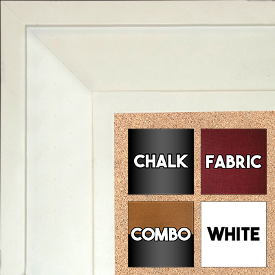 "BB1868-2 Matte Satin White 2 3/4"" Value Priced Medium To Extra Large Custom Cork Chalk Or Dry Erase Board"