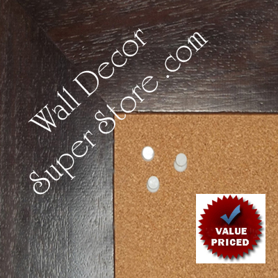 "BB1872-2 Distressed Espresso Brown 3 3/16""Value Priced Medium To Extra Large Custom Cork Chalk Or Dry Erase Board"