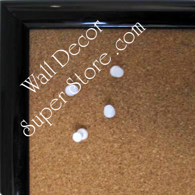BB215-1 Black Lacquer Small To Medium Custom Cork Chalk or Dry Erase Board