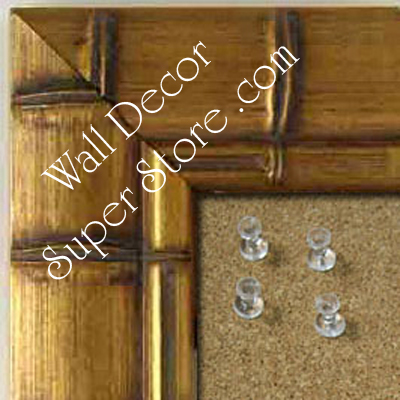 BB225-1 Dark Gold Bamboo Medium To Extra Large Custom Cork Chalk Or Dry Erase Board