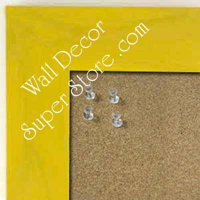 BB231-1 Yellow With Soft Dark Highlights Medium To Extra Large Custom Cork Chalk Or Dry Erase Board