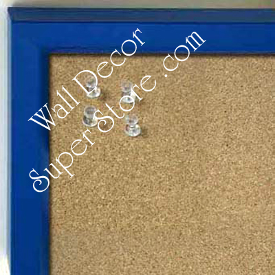 BB234-1 Royal Blue With Bevel Small Custom Cork Chalk or Dry Erase Board