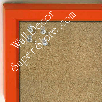 BB234-2 Orange With Bevel Small Custom Cork Chalk or Dry Erase Board