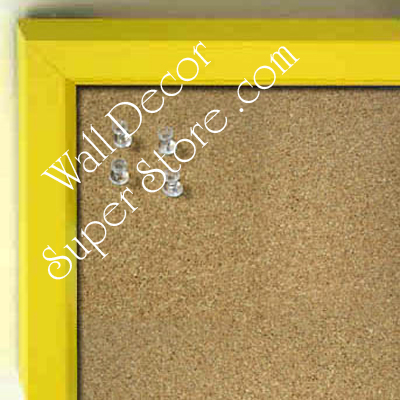 BB234-6 Yellow With Bevel Small Custom Cork Chalk or Dry Erase Board
