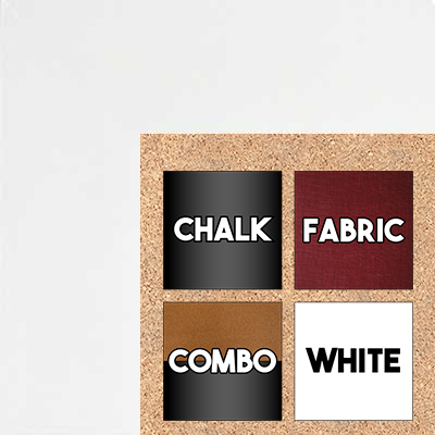 BB321-2 High Gloss White Lacquer Medium To Extra Large Custom Cork Chalk Or Dry Erase Board