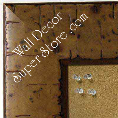 BB5211-1 Almond Pecan Distressed Burl Wood Medium To Extra Large Custom Cork Chalk Or Dry Erase Board