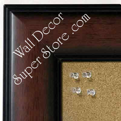 BB5231-2 Walnut With Dark Accents Medium To Extra Large Custom Cork Chalk Or Dry Erase Board