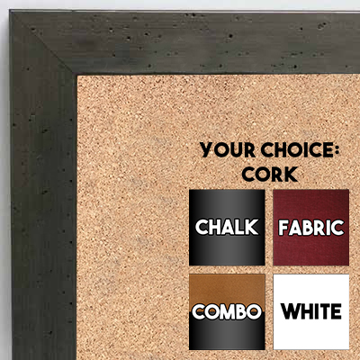 BB6224-1 Pewter Small To Medium Custom Cork Chalk or Dry Erase Board