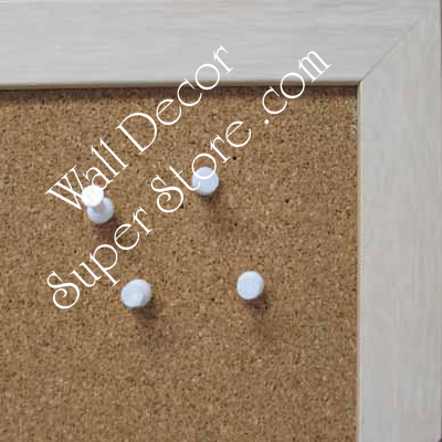 BB31-1 Distressed Off White Small To Medium Custom Cork Chalk or Dry Erase Board
