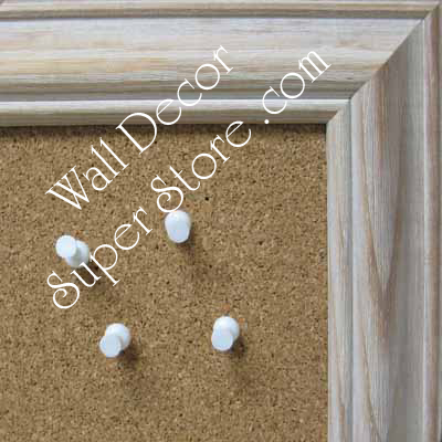 BB60-1 Distressed White -  Custom Cork Chalk or Dry Erase Board Medium To Extra Large