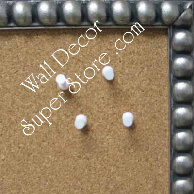 BB76-3 Pewter Leaf Beaded Frame Small To Medium Custom Cork Chalk or Dry Erase Board