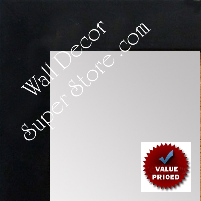 MR1000-1 Matte Black - Value Priced -Medium Custom Wall Mirror Custom Floor Mirror