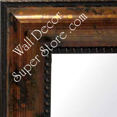 MR107-1 Distressed Copper Bronze  - Large Custom Wall Mirror Custom Floor Mirror