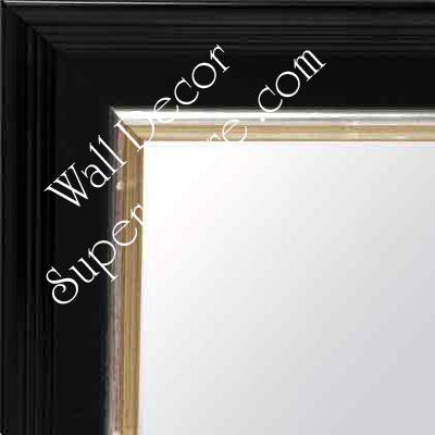 MR151-1  Antique Black With Silver - Large Custom Wall Mirror Custom Floor Mirror