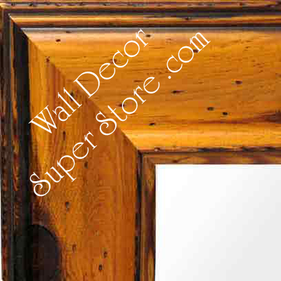 MR157-2 Pitted Yellow Pine Distressed Finish - Extra Large Custom Wall Mirror Custom Floor Mirror