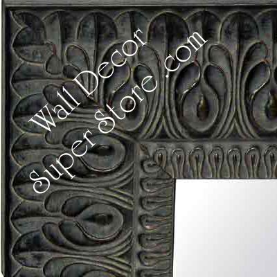 MR159-1 Ornate Light Black Grey - Extra Extra Large Custom Wall Mirror Custom Floor Mirror