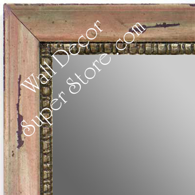 MR1402-3 Distressed Pink Carnation - Medium Custom Wall Mirror Custom Floor Mirror