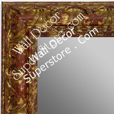 MR1411-1 Ornate Distressed Antique Gold - Medium Custom Wall Mirror Custom Floor Mirror