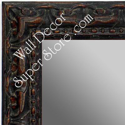 MR1411-3 Ornate Distressed Antique Brown  - Medium Custom Wall Mirror Custom Floor Mirror