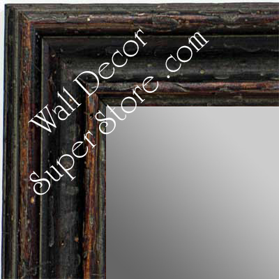 MR1412-3 Distressed Rich Brown - Large Custom Wall Mirror Custom Floor Mirror