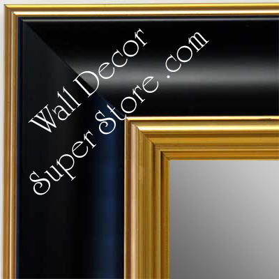 Mr1453 4 Black With Gold Extra Large Custom Wall Mirror