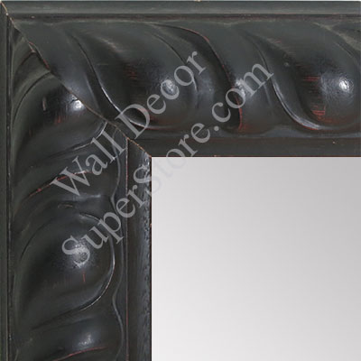 MR1500-1 Distressed Ornate Black with Red Tones Large Custom Wall Mirror Custom Floor Mirror