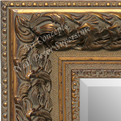 MR1504-1 Thick Ornate Baroque Antique Gold - Extra Extra Large Custom Wall Mirror Custom Floor Mirror