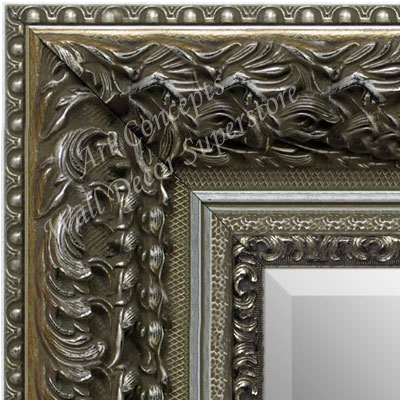 MR1504-3 Thick Ornate Baroque Antique Silver  - Extra Extra Large Custom Wall Mirror Custom Floor Mirror