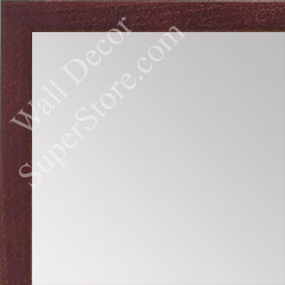 MR1511-5 Mahogany Stained Maple - Very Small Custom Wall Mirror