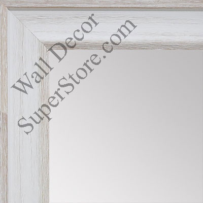 MR1512-1 White Distressed Barnwood - Medium Custom Wall Mirror, Floor Mirror