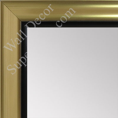 MR1520-3 Gold With Back Trim - Medium Custom Wall Mirror Custom Floor Mirror