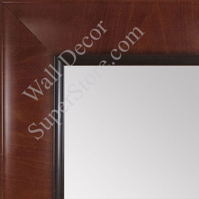 MR1525-2 Pecan - Large Custom Wall Mirror Custom Floor Mirror