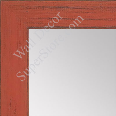 MR1533-8 Distressed Orange - Medium  Custom Wall Mirror -  Custom Bathroom Mirror