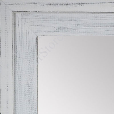 MR1534-2 Distressed Soft White - Large Custom Wall Mirror -  Custom Bathroom Mirror