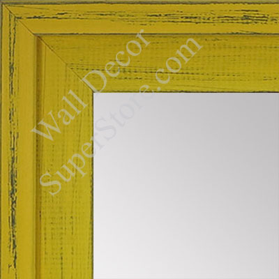 MR1534-7 Distressed Yellow - Large Custom Wall Mirror -  Custom Bathroom Mirror