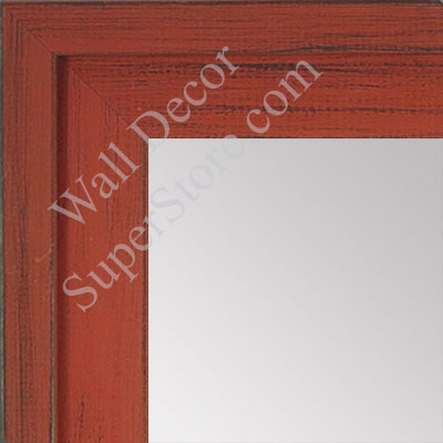 MR1534-8 Distressed Orange - Large Custom Wall Mirror -  Custom Bathroom Mirror