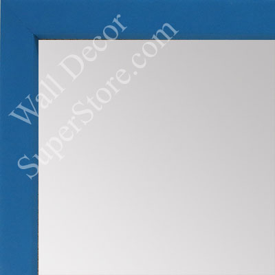 MR1538-3 Blue - Very Small Custom Wall Mirror -  Custom Bathroom Mirror