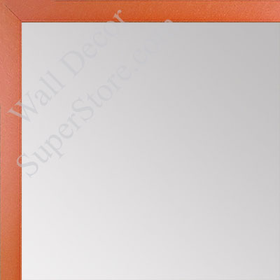 MR1540-12 Thin Metal Deep Orange Medium Custom Wall Mirror Custom Floor Mirror
