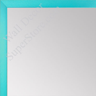 MR1540-14 Thin Metal Turquoise Medium Custom Wall Mirror Custom Floor Mirror