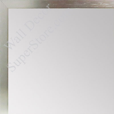 MR1540-2 Thin Metal Brushed Nickel Medium Custom Wall Mirror Custom Floor Mirror