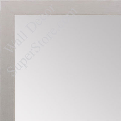 MR1843-10 Whitewash - 3/4 Inch Wide  X 3/4  Inch High - Custom Wall Mirror -  Custom Bathroom Mirror