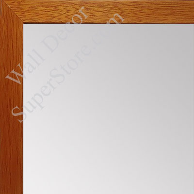 MR1843-2 Honey Maple - 3/4 Inch Wide  X 3/4  Inch High - Custom Wall Mirror -  Custom Bathroom Mirror