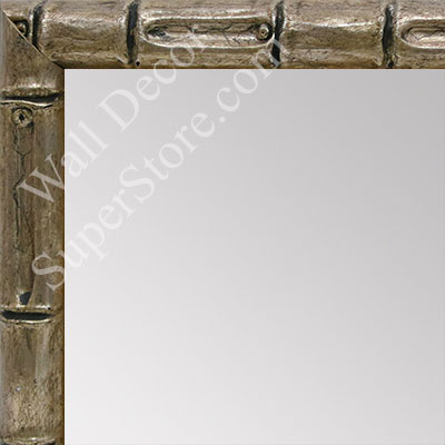 MR1549-3 Soft Champagne - Tropical Bamboo  - Small Custom Wall Mirror Custom Floor Mirror