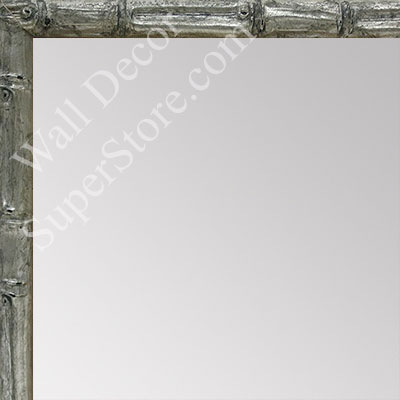 MR1550-1 Soft Silver - Tropical Bamboo - Very Small Custom Wall Mirror