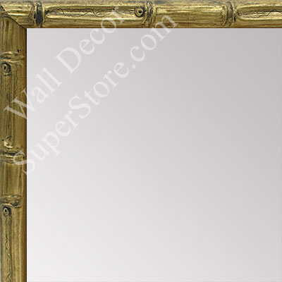 MR1550-2 Soft Gold - Tropical Bamboo - Very Small Custom Wall Mirror
