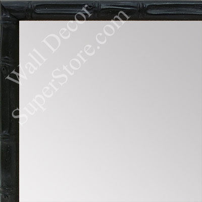 MR1550-4 Soft Black - Tropical Bamboo - Very Small Custom Wall Mirror