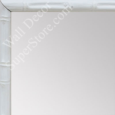 MR1550-5 Soft White - Tropical Bamboo - Very Small Custom Wall Mirror