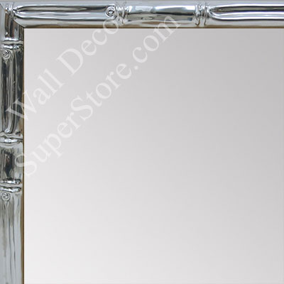 MR1552-5 Glossy Silver - Tropical Bamboo - Very Small Custom Wall Mirror