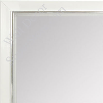 MR1560-2 Pearlized White With Silver Lip - Small Custom Wall Mirror Custom Floor Mirror